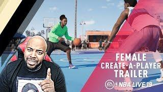NBA LIVE 19 - CREATE A FEMALE PLAYER FEATURE FULL BREAKDOWN! The Pros & Cons Of Creating A Woman