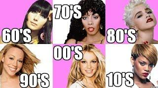 10 Most POPULAR Female Artists of Each Decade!