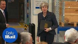 Theresa May's witty response to female reporters IWD question