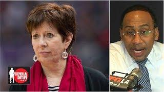Muffet McGraw's call for more women in sports is '1000 percent on the money' | Stephen A. Smith Show