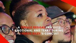 Female fan cries uncontrollably during Tarrus Riley's concert in Nairobi