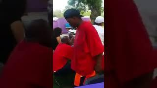 Female Knocks Man Out with Bottle at Family BBQ