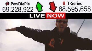 Pewdiepie vs T-Series Live Subscriber Counter