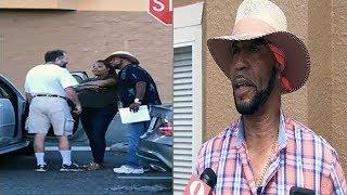 Black Man(Derrick Brown) Pulls Out THE BURNER Protecting A Black Woman From Harm At Walmart