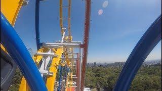 Wonder Woman Coaster POV Video Onride - Six Flags México