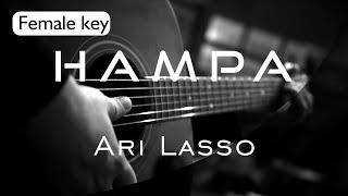 Hampa - Ari Lasso Female Key ( Acoustic Karaoke )