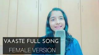 Vaaste female cover version full song | English translation | Nikhil D'Souza | Dhvani