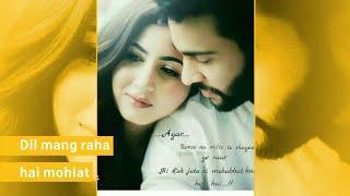 Female Version Sad + Love Song Full Screen Whatsapp Status Video || Female Status | Dil Mang Raha ha