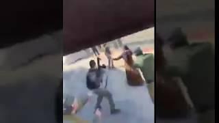 "Female ""Palestinian"" terrorist trying to stab Israeli policemen"
