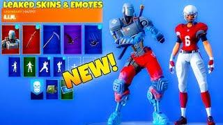 *NEW* Leaked Fortnite Emotes & Skins! (ROBOT SKIN, NFL Skins/Emote)