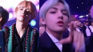 Bts V loves this female idol so much he got out of his seat in grammy 2019