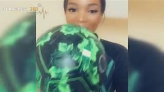 Female Super Eagles Fan Show Off Juggling Skill With World Cup Kit