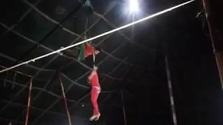 circus video  male and female show | circus rope balance