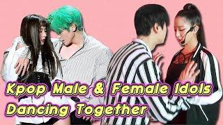 Kpop Male and Female Idols Dancing Together [FanClub Kpop]