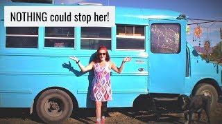 SOLO-FEMALE SKOOLIE -- AMAZING STORY! Meet Patricia