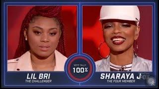 Lil Bri vs Sharaya J: EPIC FIRST FEMALE RAP BATTLE ON PRIMETIME TV! | S2E3 | The Four