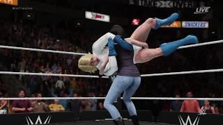 WWE 2K18 Power Girl vs. Jessica Jones - 2 Out Of 3 Falls
