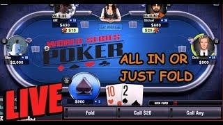 World Series Of Poker Pc online ALL IN or JUST FOLD