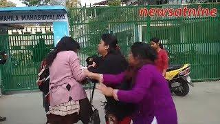 Clash between SFI and TMCP female students in Siliguri.