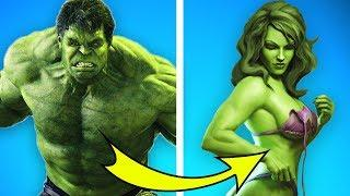 10 MALE SUPERHEROES TURNED INTO WOMEN. YOU DIDN'T EXPECT IT!