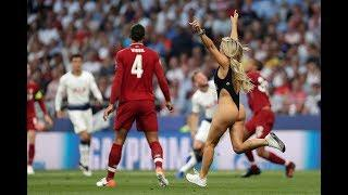 Female pitch invader interrupts Champions League final between Liverpool and Tottenham