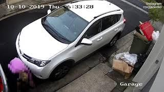 Video: Shocking video of female jogger repeatedly DEFECATING outside home