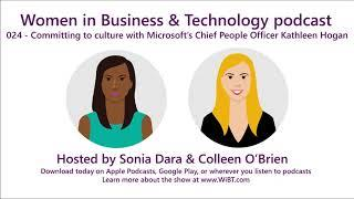 Episode 24 - Committing to culture with Microsoft's Chief People Officer Kathleen Hogan