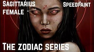 THE ZODIAC SERIES: SAGITTARIUS FEMALE SPEEDPAINT