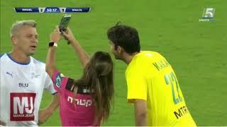 Woman Referee Shows Yellow Card To Brazil Legend KAKA To Take Selfie