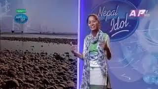 Nepal Idol Female Rap version || Nepal idol Lady Rapper 2018 Audition ||