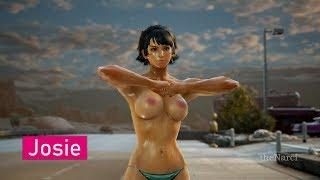 #TEKKEN 7 - All Female Characters Boobs (+18 Nude Show)