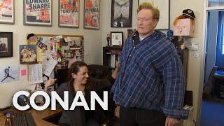 Conan Helps His Female Staffers Blow Off Steam  - CONAN on TBS