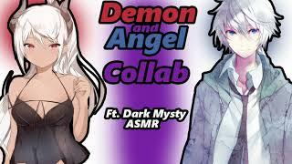 Male Angel and Female Demon Collab Roleplay ¦¦Light rain sounds - ASMR¦¦