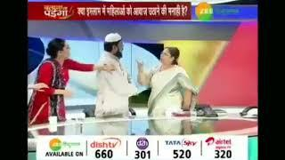 Viral video: Male Panelist hits female panelist during a debate show on a National News Channel.