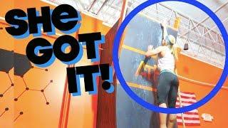 SHE ATTEMPTED THE WARPED WALL!!! (EPIC FEMALE ATHLETE)