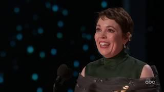 Olivia Colman Accepts the Oscar for Lead Actress