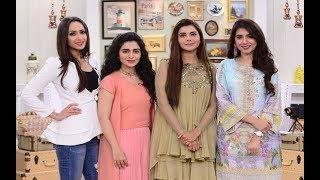 good morning pakistan with nida yasir young female celebrities show 2nd august 2018