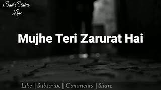 Mujhe Teri Zarurat Hai ???? || Female version status video || Sad Status Line ||