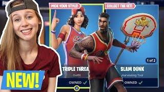 FEMALE FORTNITE PLAYER! NEW BASKETBALL SKINS! (Fortnite Battle Royale Live)