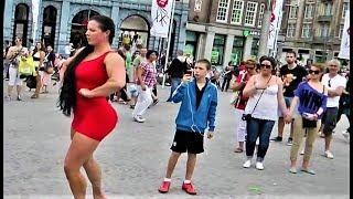 When a Tall Female Bodybuilder Goes out in public