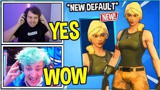 "Streamers REACT to *NEW* ""Blonde Female DEFAULT Skin"" In Fortnite!"