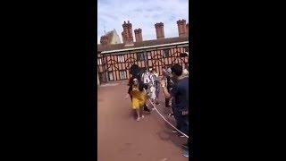 Video  Out of my way! Guardsman pushes female tourist in Windsor