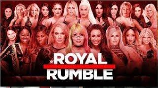 30-Woman Royal Rumble Match: WWE Royal Rumble 2019