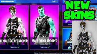 NEW Female SKULL TROOPER & Male GHOUL TROOPER In Fortnite Season 6! (Fortnite NEW Skins)