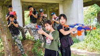 3T Nerf War : Squad Alpha Female Warrior Nerf guns Rescue Sister Mission Failed