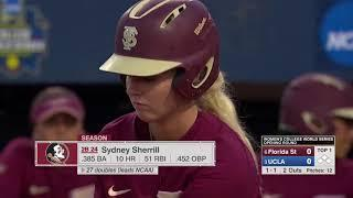 #6 Florida State vs. #3 UCLA    Women's College World Series 2018