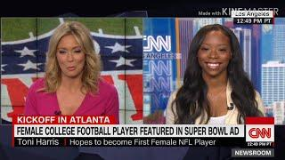 ESAU PUSHING FOR FIRST FEMALE NFL PLAYER IN HISTORY! -Toni Harris (ISRAELITE- Woman)