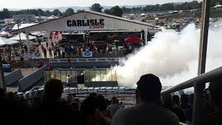 First female to win burnout competition Carlisle Chrysler show