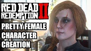 Beautiful Female Character in Red Dead Redemption 2 Online