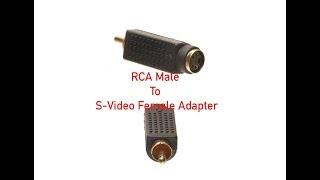 RCA Male to S-Video Female Adapter P#2513